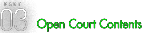 PART 03 Open Court Contents
