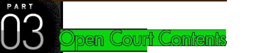 PART 03 Open Court Contents